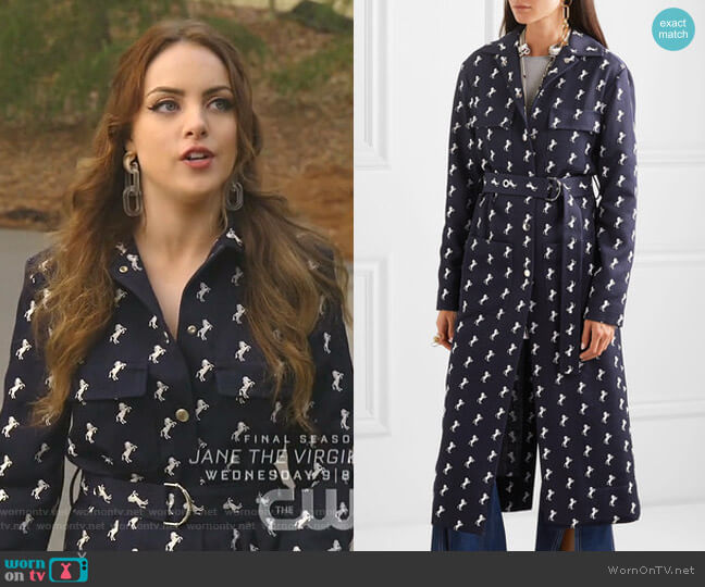 Little Horses Coat by Chloe worn by Fallon Carrington (Elizabeth Gillies) on Dynasty