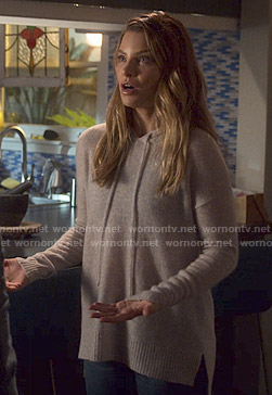 Chloe's grey hooded sweater on Lucifer