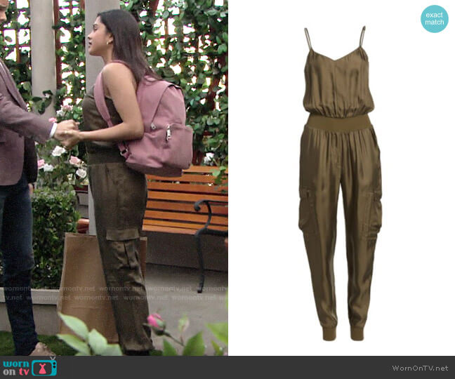 Cinq A Sept Amia Jumpsuit worn by Lola Rosales (Sasha Calle) on The Young & the Restless