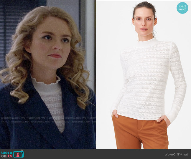 Club Monaco Kavie Sweater worn by Eve Teschmacher (Andrea Brooks) on Supergirl