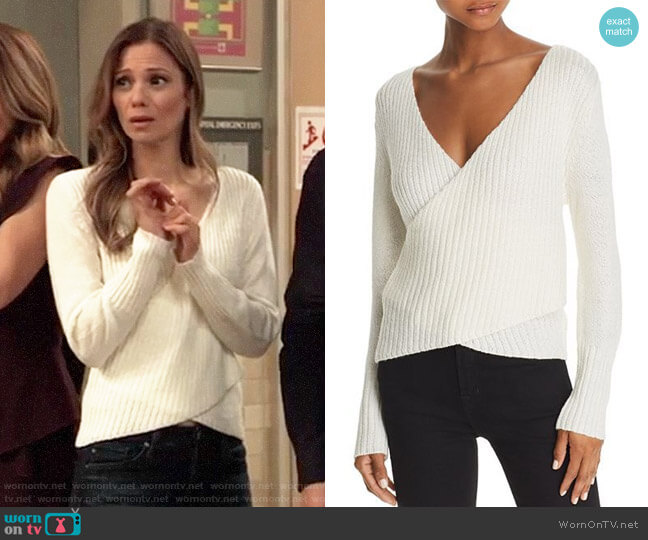 C/Meo Collective Evolution Sweater worn by Kim Nero (Tamara Braun) on General Hospital