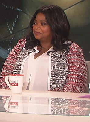 Octavia Spencer's tweed jacket on The Talk