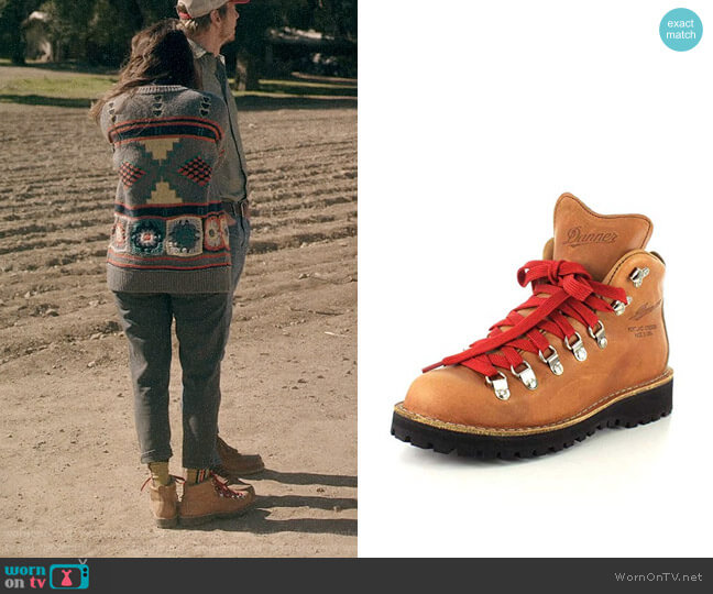 Danner Mountain Light Cascade Hiking Boot worn by Rio (Lake Bell) on Bless This Mess