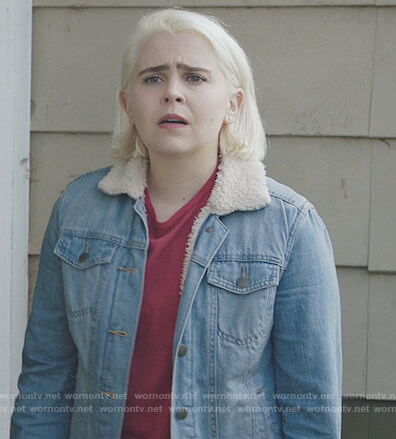 Annie's denim shearling jacket on Good Girls