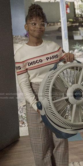 Diane's Disco Paris sweater on Black-ish