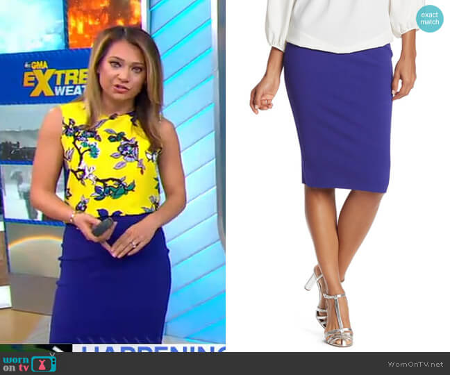 Ada Sweater Skirt by Diane von Furstenberg worn by Ginger Zee  on Good Morning America