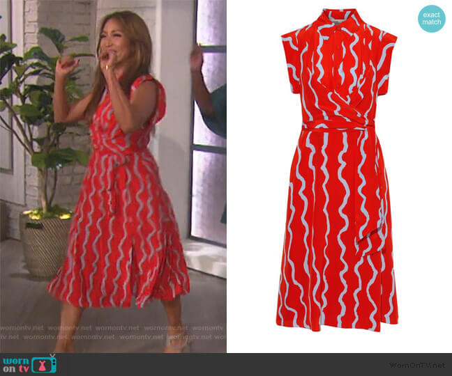 Avery Dress by Diane von Furstenberg worn by Carrie Inaba (Carrie Inaba) on The Talk