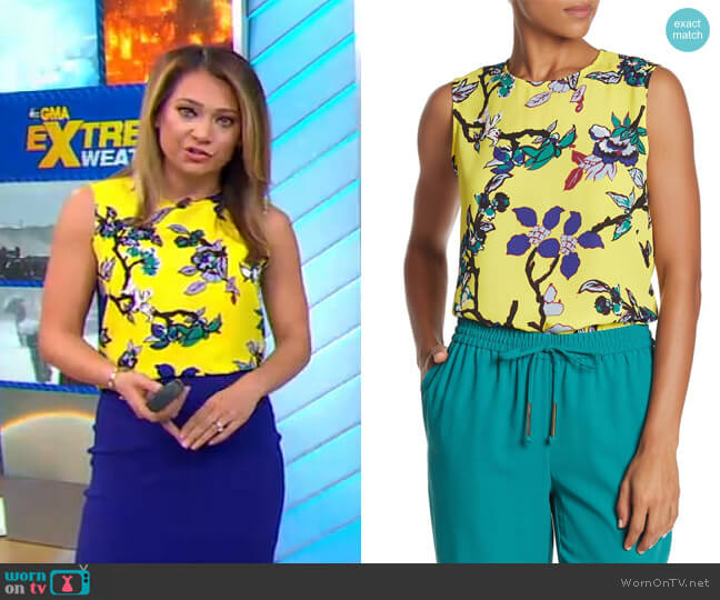 Mary Top by Diane von Furstenberg worn by Ginger Zee  on Good Morning America