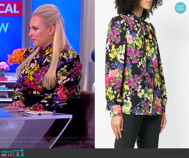 Floral Print Blouse by Dolce & Gabbana worn by Meghan McCain  on The View