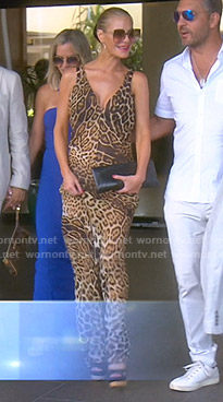 Dorit's leopard gown on The Real Housewives of Beverly Hills