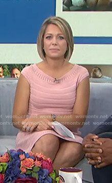 Dylan's pink striped knit dress on Today