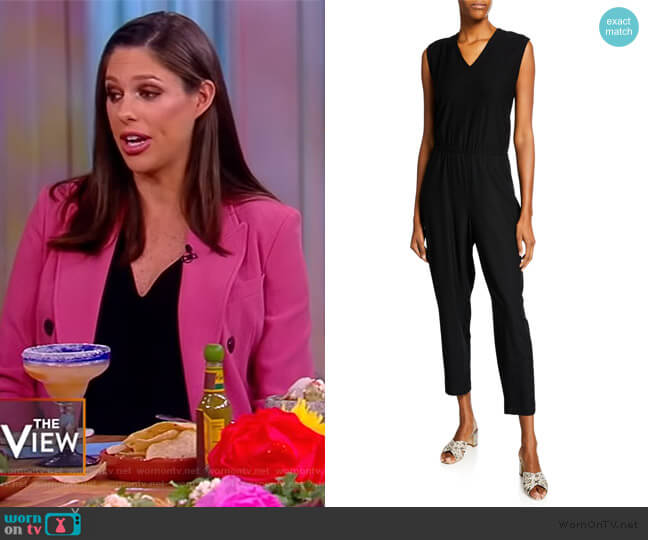 V-Neck Sleeveless Straight-Leg Jumpsuit by Eileen Fisher worn by Abby Huntsman  on The View