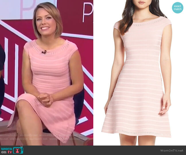 Off the Shoulder Sweater Dress by Eliza J worn by Dylan Dreyer  on Today