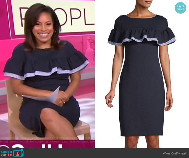 Ruffled Sheath Dress by Eliza J worn by Sheinelle Jones (Sheinelle Jones) on Today