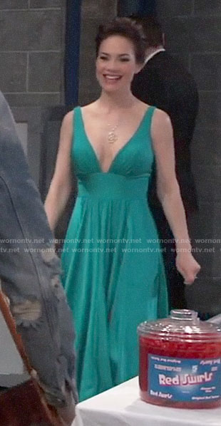 Elizabeth's green Nurse's Ball gown on General Hospital