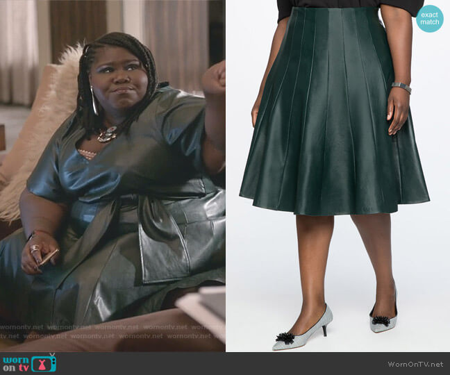 Faux Leather Trumpet Skirt by Eloquii worn by Becky (Gabourey Sidibe) on Empire