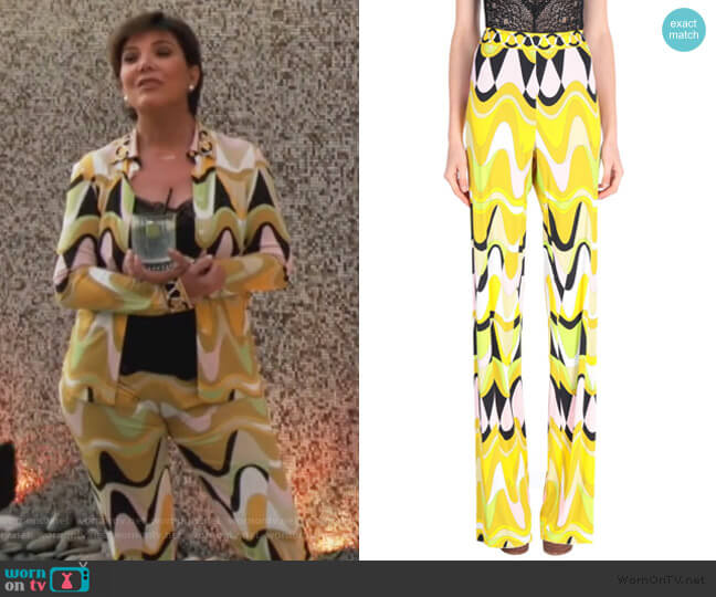 Casual Pants by Emilio Pucci worn by Kris Jenner  on Keeping Up with the Kardashians