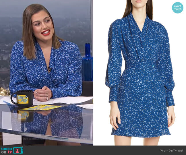 Fanetta Dress by Equipment worn by Carissa Loethen Culiner  on E! News