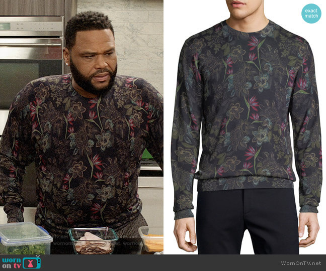 Etro Floral Wool-Blend Sweater worn by Andre Johnson (Anthony Anderson) on Blackish