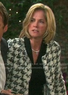 Eve's tweed houndstooth jacket on Days of our Lives