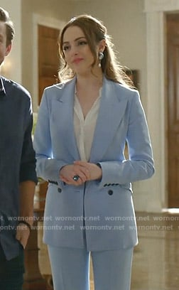Fallon's blue suit on Dynasty