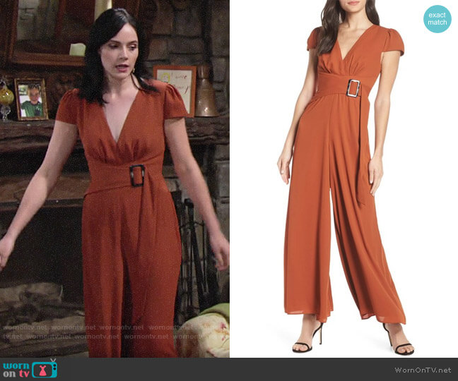 Fame & Partners Posie Jumpsuit worn by Tessa Porter (Cait Fairbanks) on The Young & the Restless