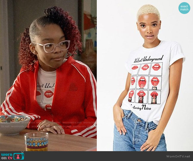 Forever 21 Velvet Underground Tee worn by Diane Johnson (Marsai Martin) on Blackish
