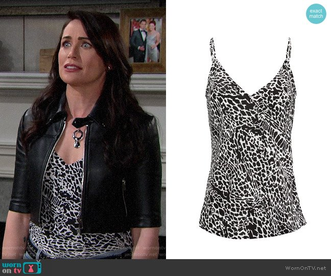 Frame Classic Silk Cami worn by Quinn Fuller (Rena Sofer) on The Bold & the Beautiful
