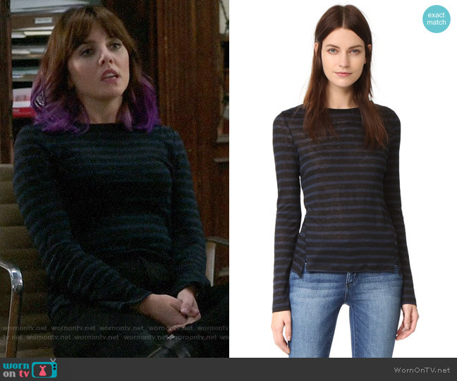Frame Pintuck Linen Tee worn by Kitty Winter (Ophelia Lovibond) on Elementary