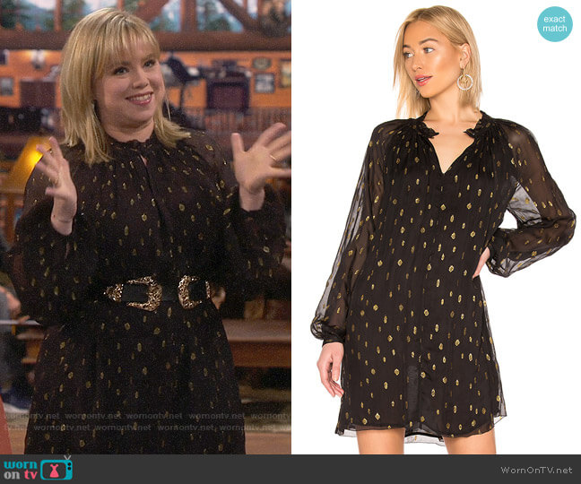 Frame Smocked Raglan Dress worn by Kristin Baxter (Amanda Fuller) on Last Man Standing
