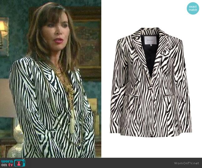 Frame Zebra Blazer worn by Kate Roberts (Lauren Koslow) on Days of our Lives