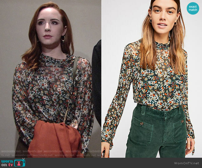 Free People All Dolled Up Blouse worn by Mariah Copeland (Camryn Grimes) on The Young & the Restless