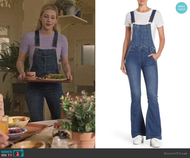 Free People Carly Flare Overalls worn by Betty Cooper (Lili Reinhart) on Riverdale