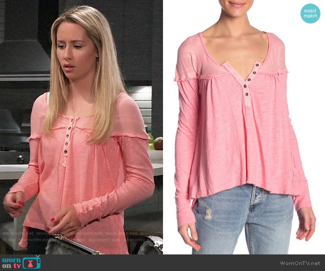 Free People Down Under Henley worn by Josslyn Jacks (Eden McCoy) on General Hospital