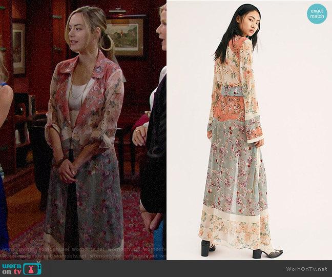 Free People Helene Coat worn by Hope Logan (Annika Noelle) on The Bold & the Beautiful