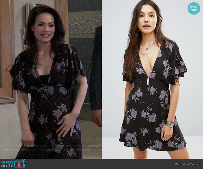 Free People Melanie Dress worn by Elizabeth Webber (Rebecca Herbst) on General Hospital