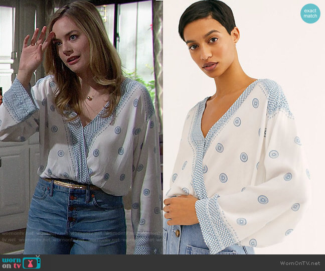 Free People On Board Bodysuit worn by Hope Logan (Annika Noelle) on The Bold & the Beautiful