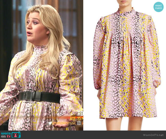 Cotton Poplin Trapeze Dress by Ganni worn by Kelly Clarkson  on The Voice