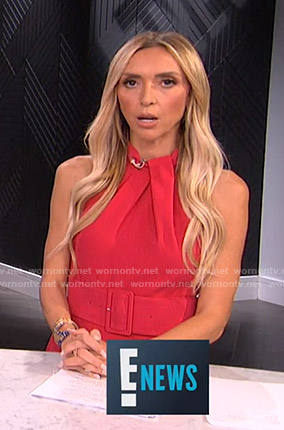 Giuliana's pink belted jumpsuit on E! News