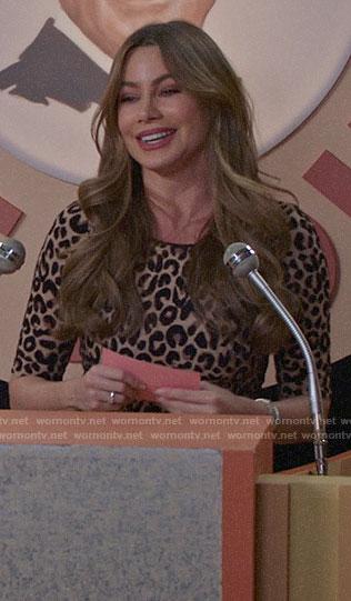 Gloria's leopard print dress on Modern Family