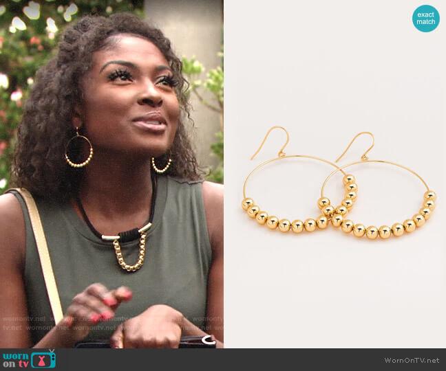 Gorjana Newport Hoop Earrings worn by Ana Hamilton (Loren Lott) on The Young & the Restless