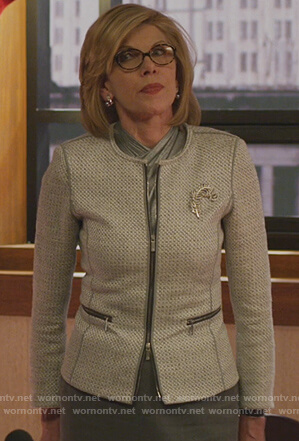 Diane's gray tweed jacket on The Good Fight
