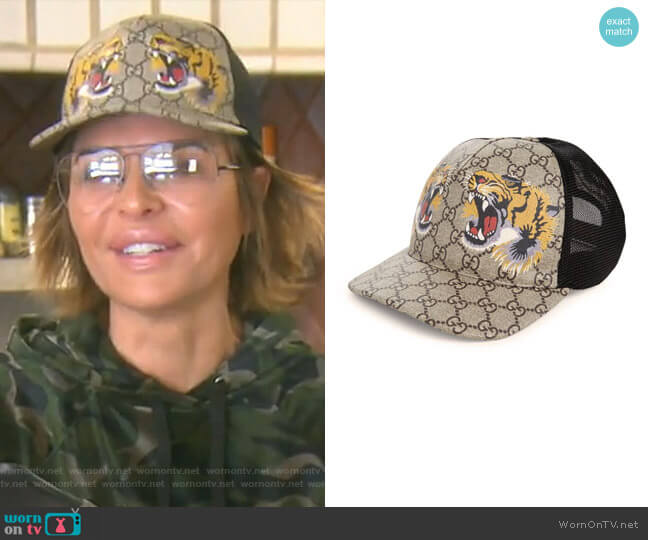 Tiger Baseball Cap by Gucci worn by Lisa Rinna  on The Real Housewives of Beverly Hills