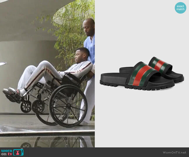 Web Slide Sandal by Gucci worn by Jeff Colby (Sam Adegoke) on Dynasty