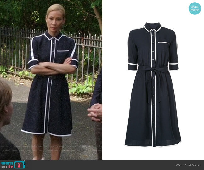 Guild Prime Flared Shirtdress worn by Joan Watson (Lucy Liu) on Elementary