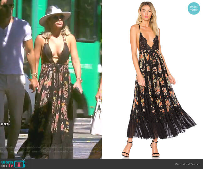 I'll Take You Farther Dress by Hah worn by Teddi Mellencamp Arroyave  on The Real Housewives of Beverly Hills