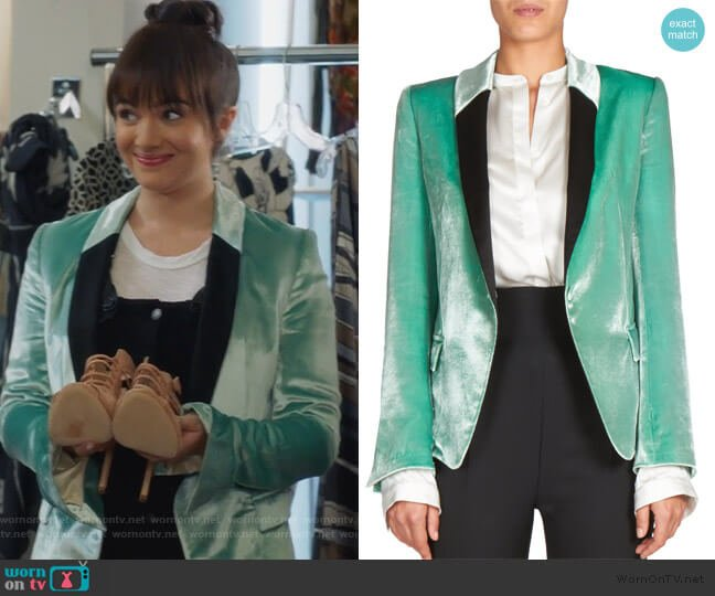 Velvet Blazer by Haider Ackermann worn by Jane Sloan (Katie Stevens) on The Bold Type