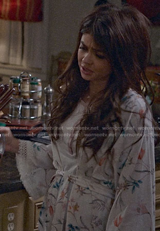 Haley's floral robe on Modern Family