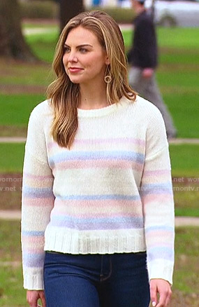 Hannah's pastel striped sweater on The Bachelorette