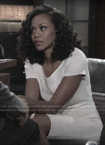 Hilary's white dress in Devon's dream on The Young and the Restless